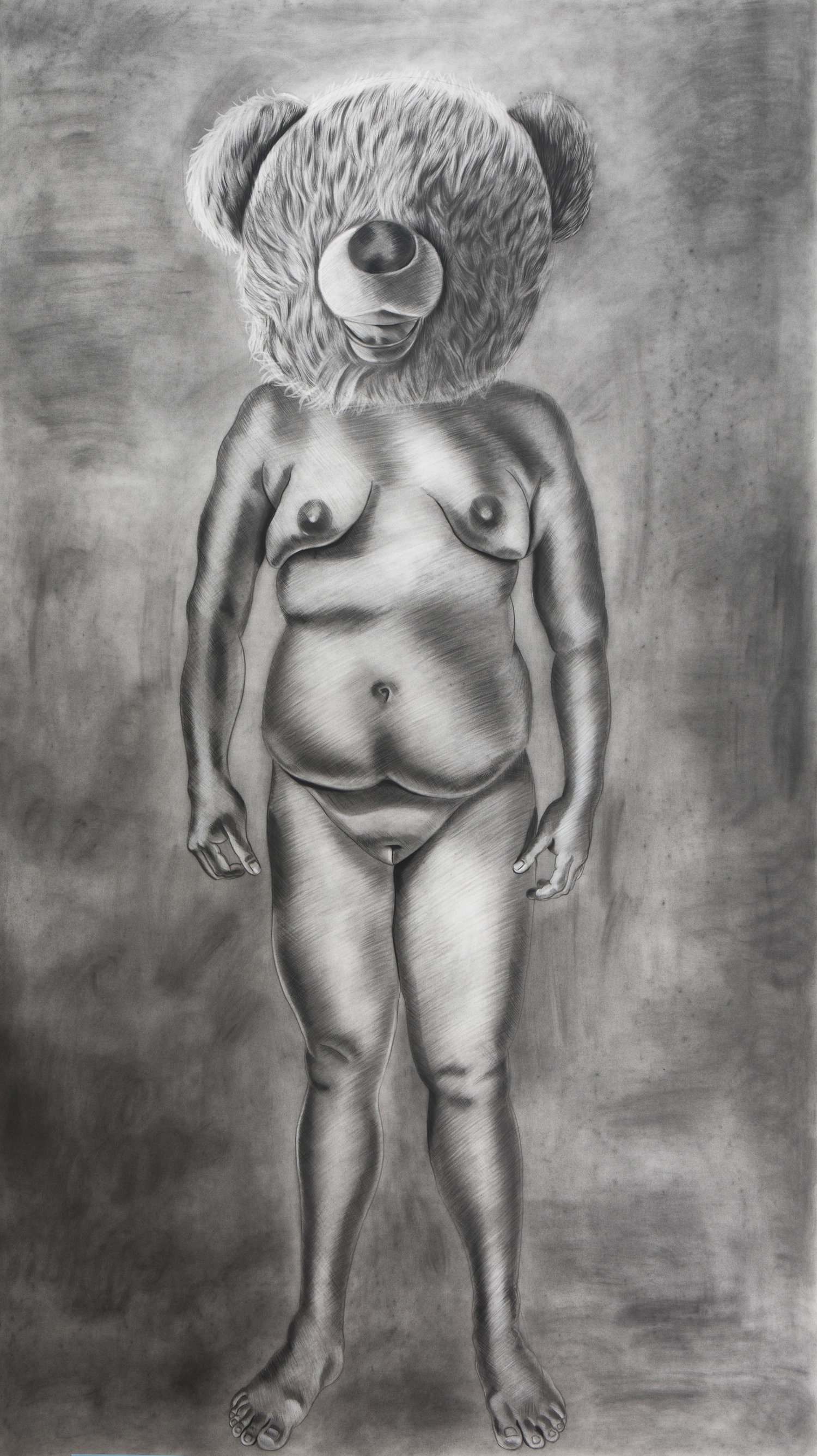 Untitled, 76.5 x 43.5 inches, charcoal on paper. 2017