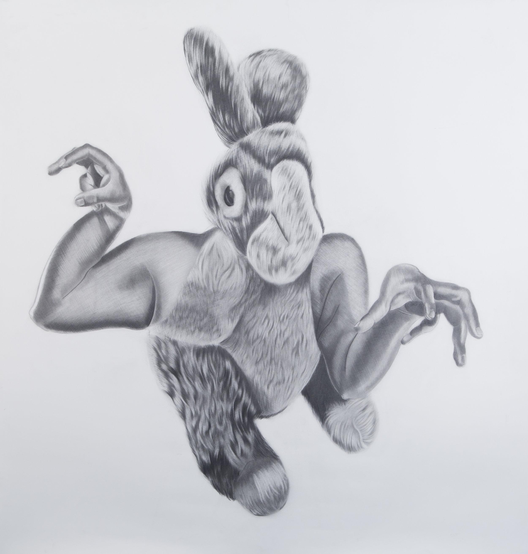 Criatura #4, 36.5 x 39.5 inches. Graphite on paper. 2017