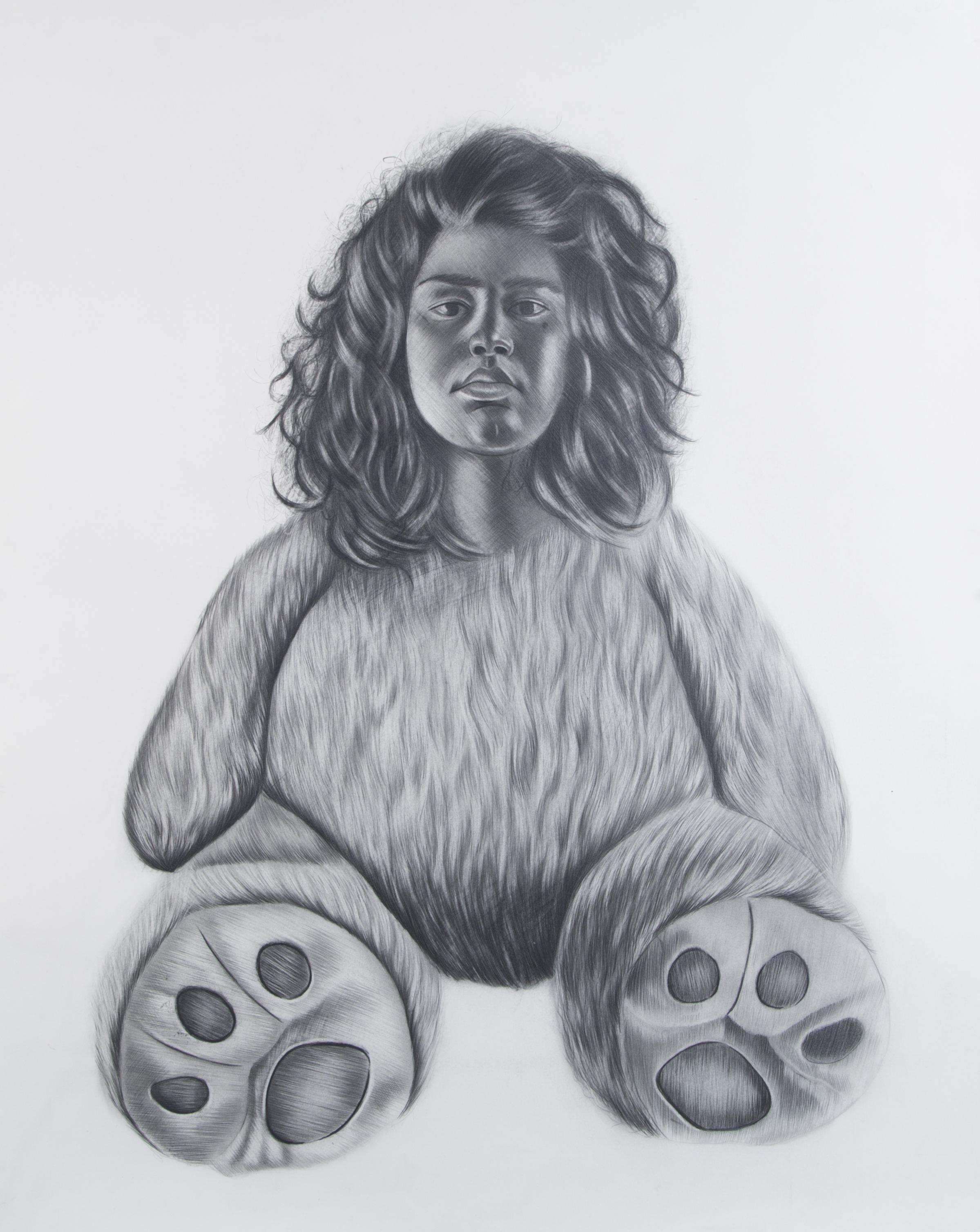 Criatura #1, 22 x 30 inches. Graphite on paper. 2018