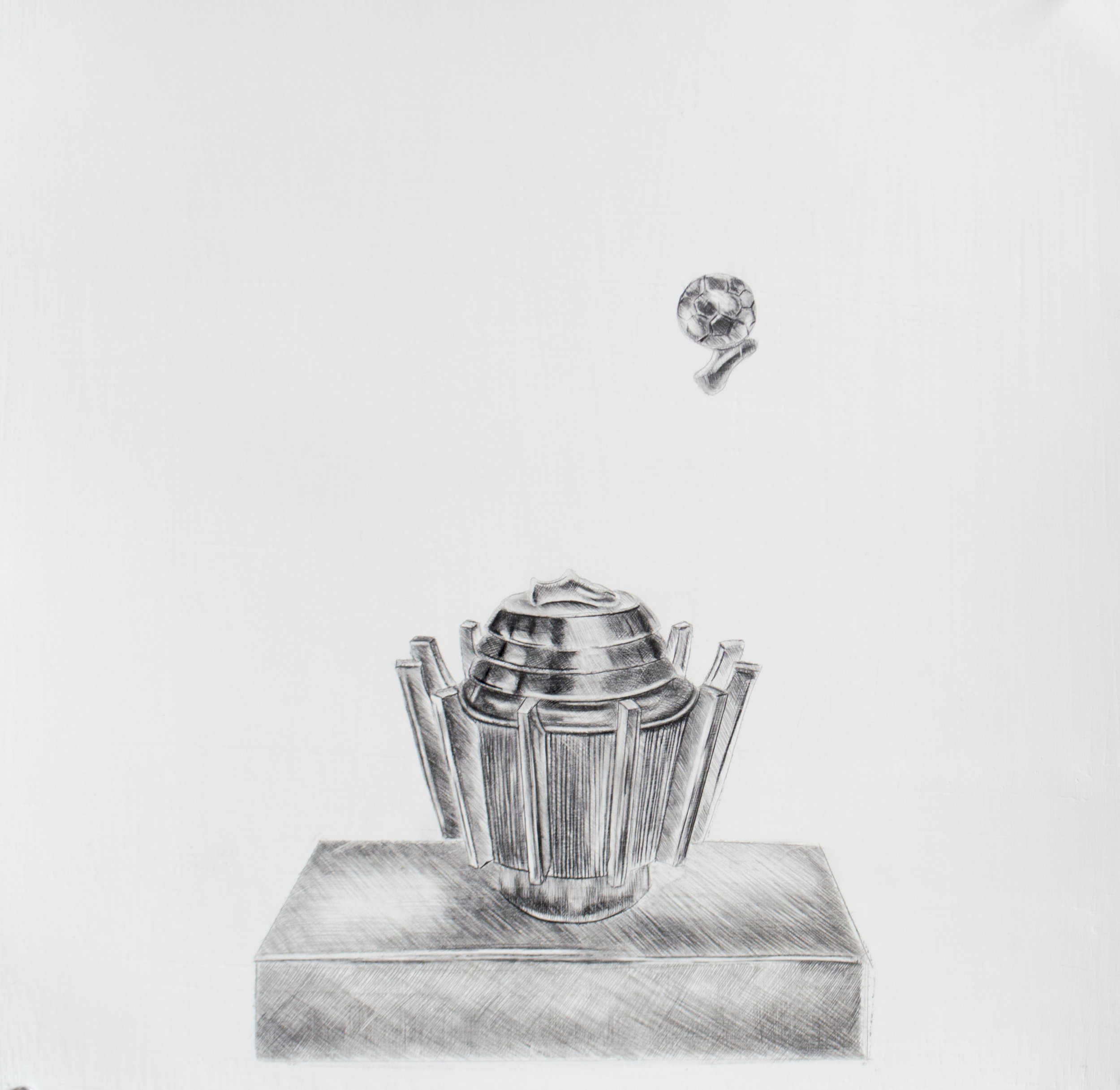 The most successful people reach the top not because they are free of limitations, but because they act in spite of their limitations, 13.5 x 13.5 inches, Silverpoint and graphite on prepared paper. 2019