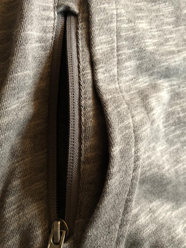Cape Cloth Stash Hoodie Pocket Open