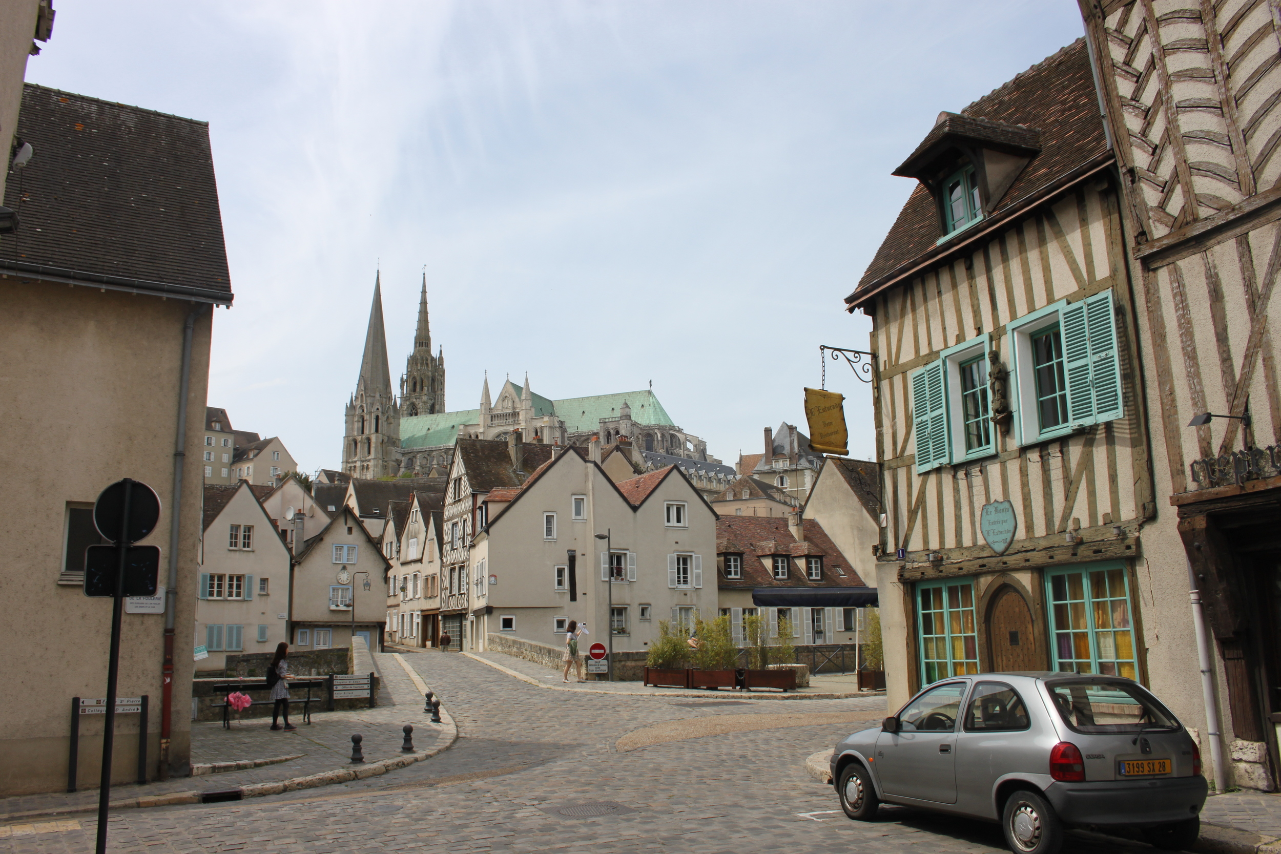 Chartres from the bottom of the hill /Anna Hartley