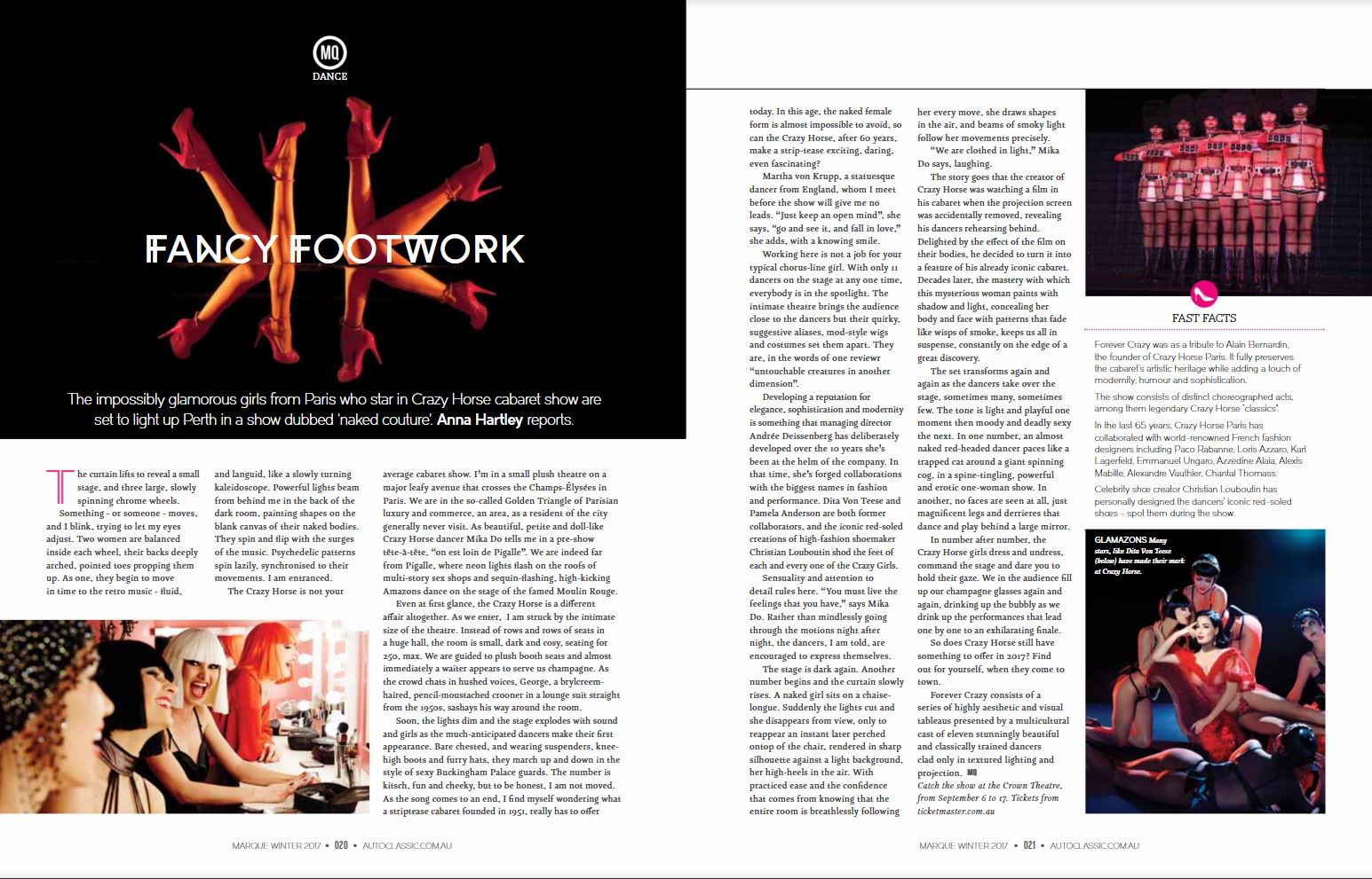 Crazy Horse review in MQ Magazine