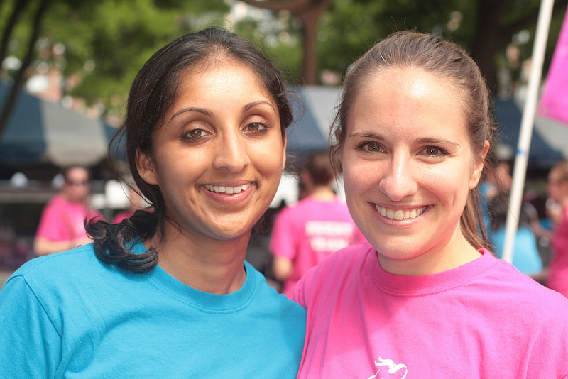 Jen (right) with Girls on the Run NYC Coach, Sonali.