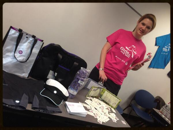 Alison repping Athleta at the Girls on the Run NYC   Spring 2013 Coach Kick-off Event!