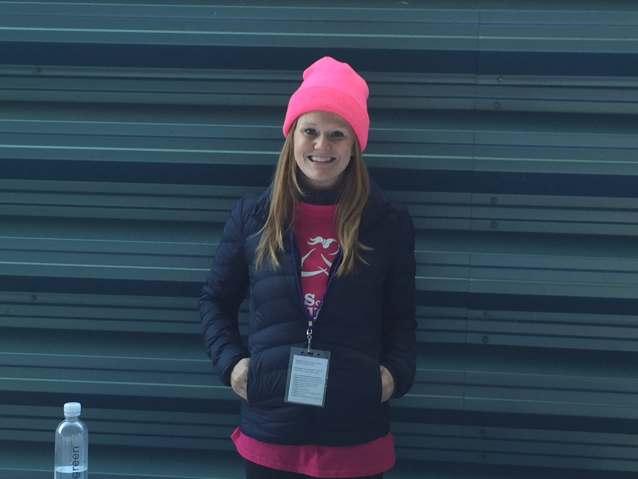 "Lauren,  Brooklyn       ""I volunteered as a running buddy a few years ago, and decided afterwards to get more involved. I found out about the Solemates committee, and as a runner, decided that was a good way to get involved. I just ran the NYC Marathon as a Solemate a few weeks ago!"""
