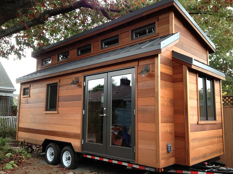 We are making the distinction between an ADU and a tiny house like the one above. This one was built by ShelterWise., another homegrown Portland company. We've had the pleasure to meet with these guys and see their work up close. Fantastic stuff!
