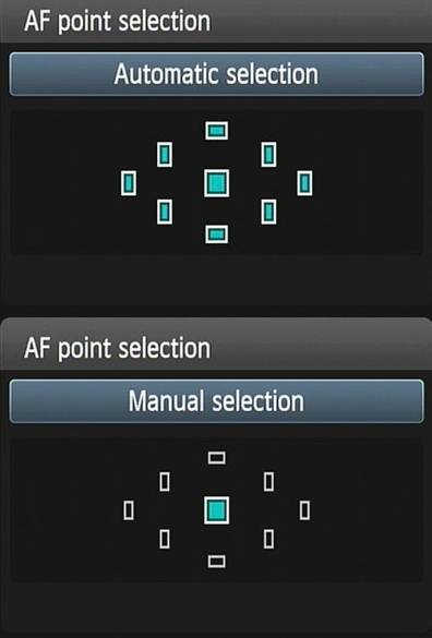 AF point selection