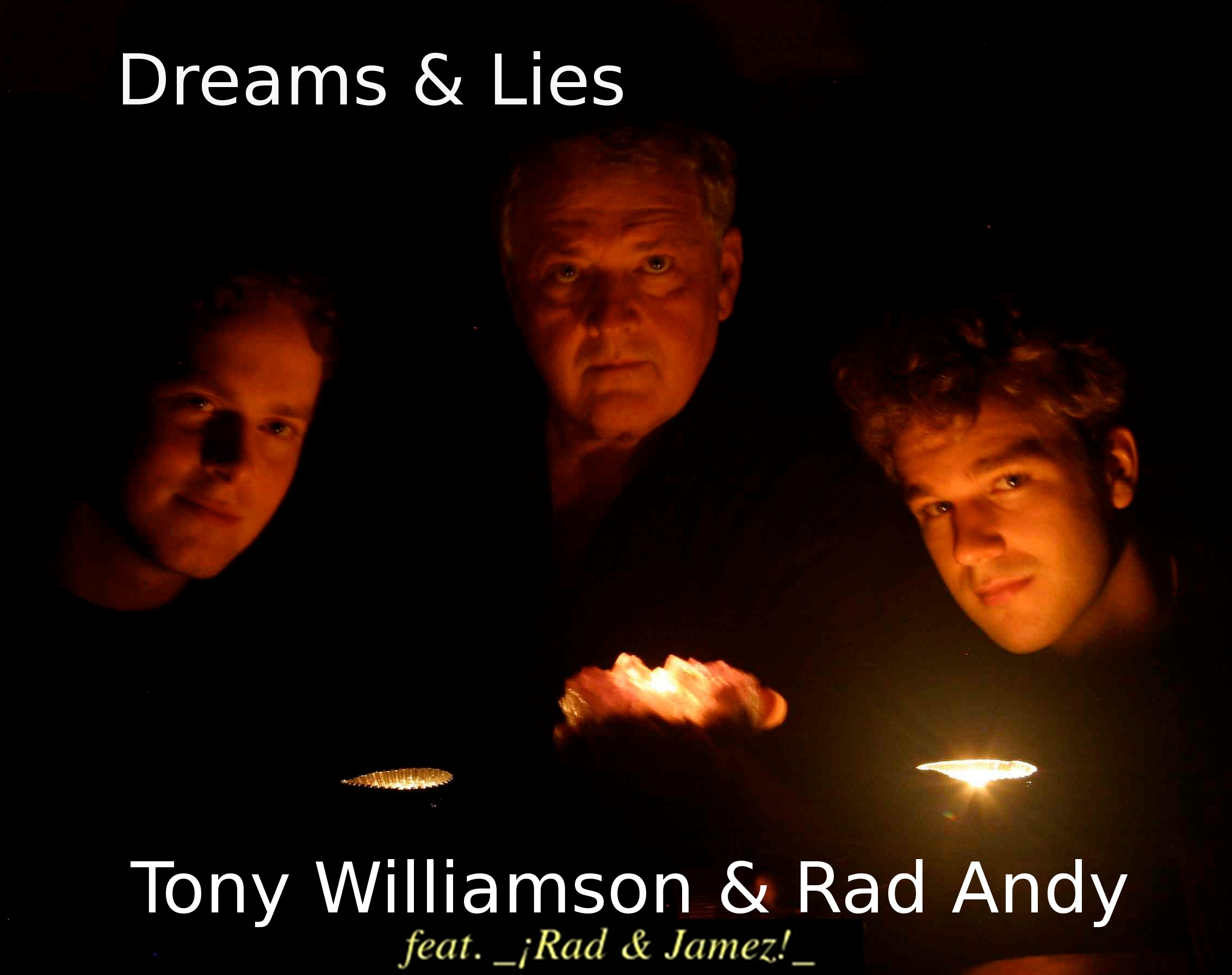 """The signature album of ¡Rad & Jamez!'s Real Groove Music style is an all original collaboration of Tony Williamson & Rad Andy, featuring James Dawkins! This album is an 11 track disc in a sleek trifold package. Combies traditional instruments such as mandolin and acoustic guitar with rocking drums, electric bass and delicate countermelodies. Fuses jazz and acoustic styles with bluegrass influence.    Legendary mandolin player Tony Williamson blazinges forth with his scintillating jams. Joining him with dynamic vocals and inventive guitar riffs will be Rad Andy. Underneath these fascinating textures are the smooth basslines of James Dawkins, whose runs and solos never fail to delight and dazzle. The three's recent release of the new album """"Dreams & Lies"""" has been received with enthusiasm wherever the trio has toured, including Triad Acoustic Stage in Greensboro, Randy Wood's Concert Hall in GA, and the elegant Mansion in Chapel Hill."""