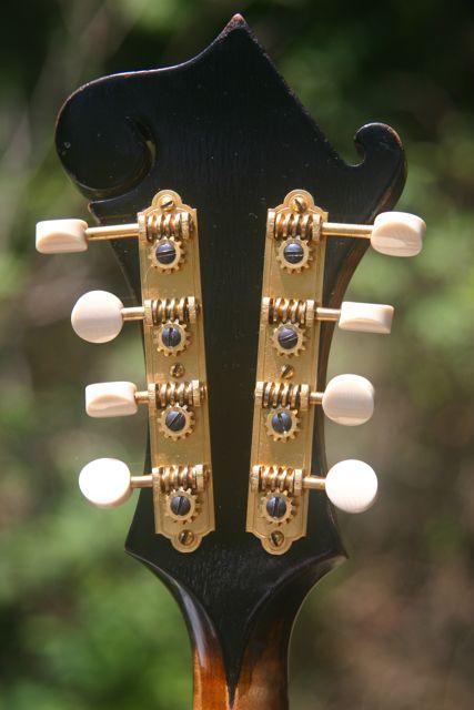 Lloyd Loar mandolin 79719 peghead back