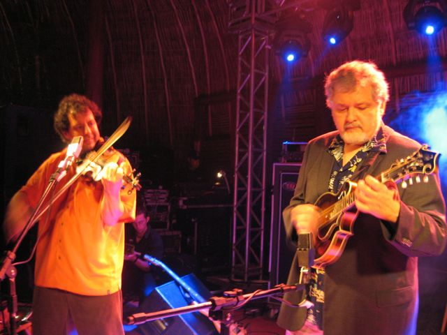 Tony playing his Duff F-5 with Mike Marshall in Brazil