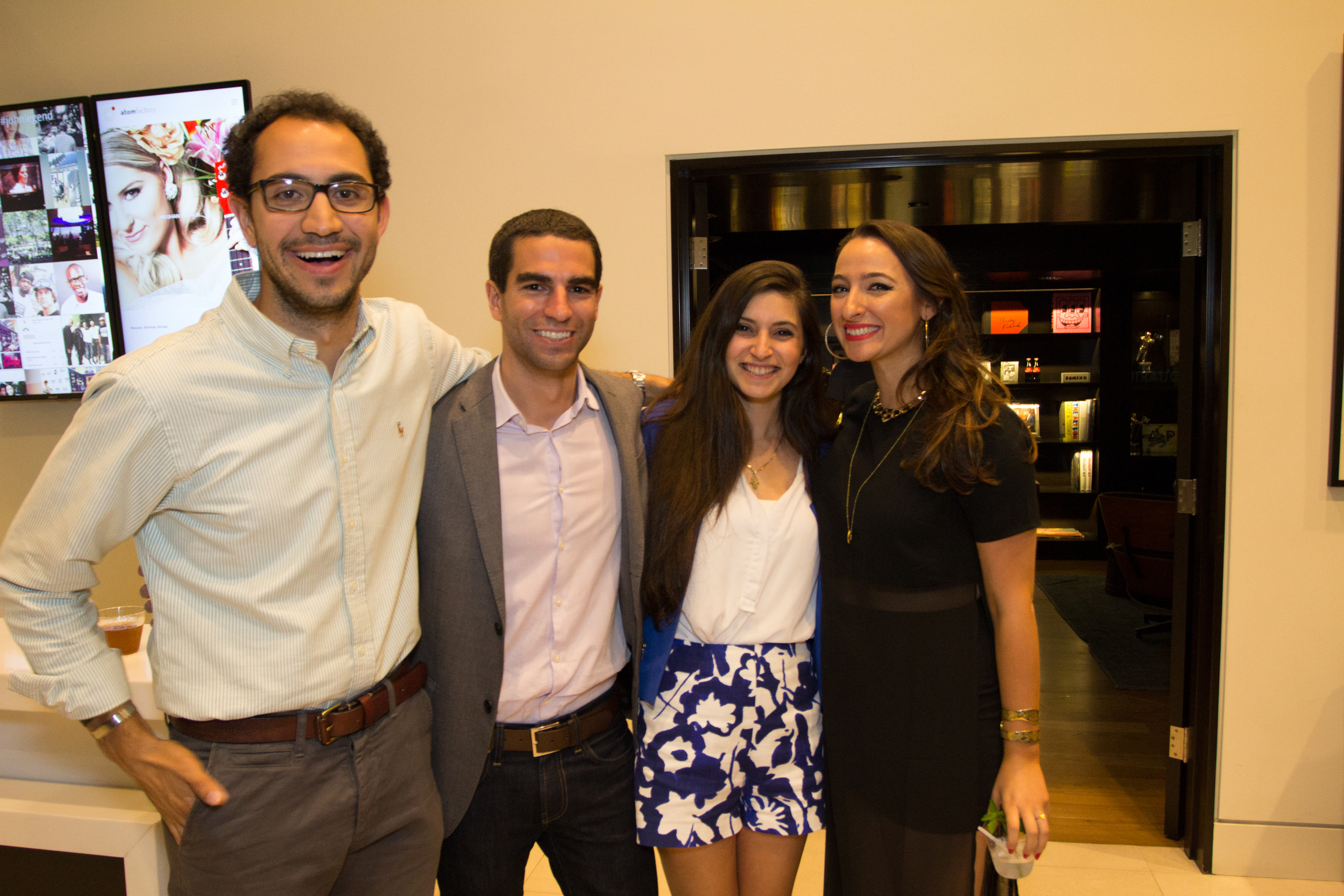 Arteen Arabshashi of Karlin Venture, Mike Fernandez of Velos Partners, Liora Simozar, Aliza Kelly Faragher of Align