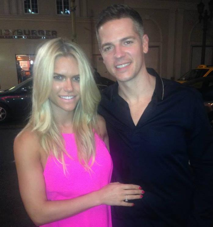 Lauren with fiance, Jason Kennedy