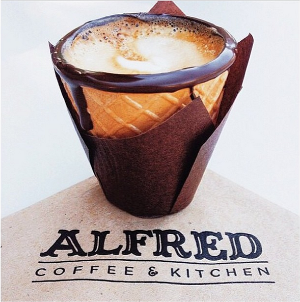 The Edible Coffee Cup on The Secret Menu at Alfred Coffee & Kitchen