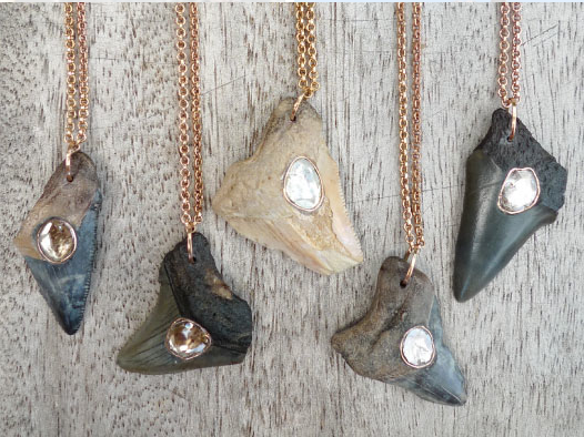 Fossilized Shark Tooth Necklaces, Dezso by Sara Beltran