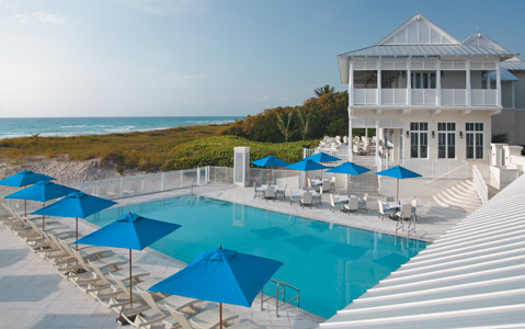 The Seagate Beach Club, available exclusively to guests of the Seagate Hotel & Spa