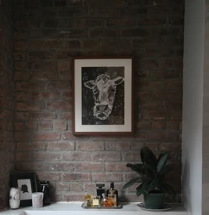 Elizabeth Evelyn Ball's work on exposed brick