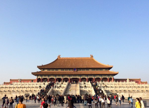 The entrance to the center of the forbidden city