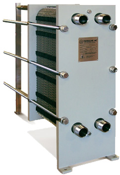 A heat exchanger.               Photo from Thermaline, Inc.