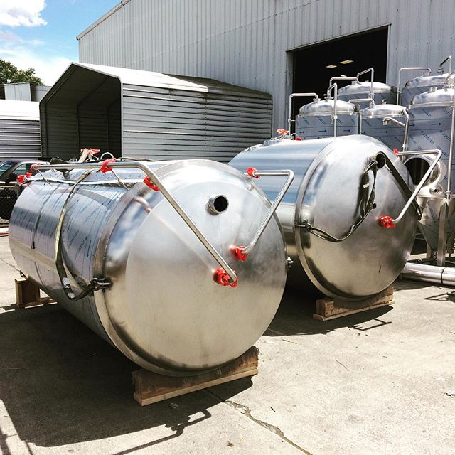 These bad boys are ready to ship tomorrow to @cabinboysbrewery. Stay tuned. #beer #craftbeer #brewery #stainlesssteel #welding #metalfab #americanmade #tulsa #oklahoma