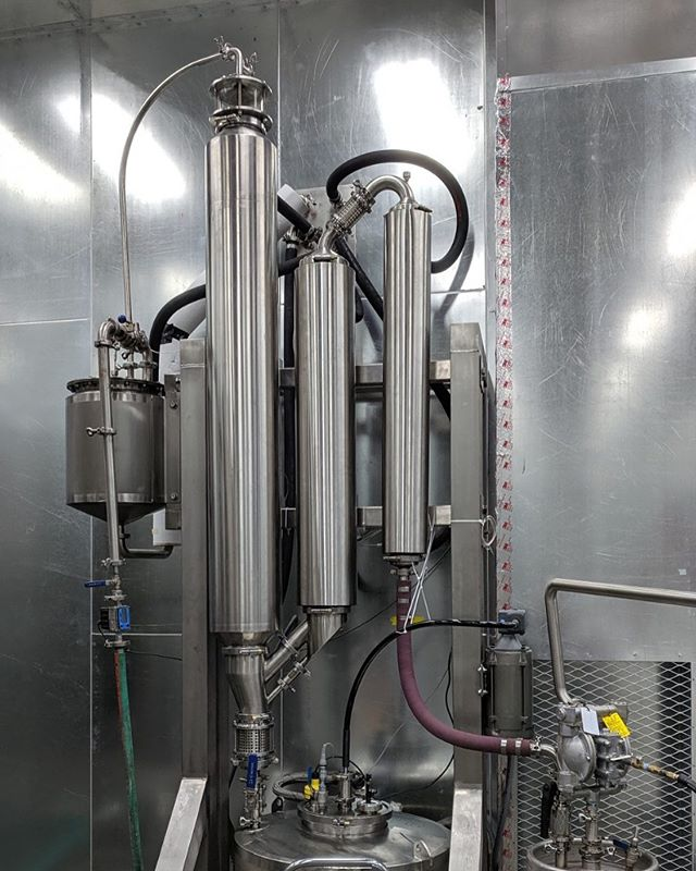 This is our 600 liter per hour falling film evaporator. #cbd #cbdoil #cbdisolate #cbddistillate #hemp