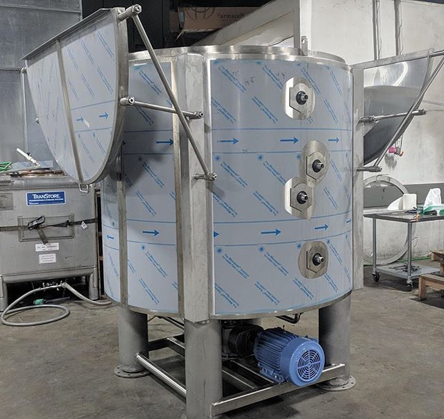 This is our 3000 liter cryogenic ethanol wash and centrifuge.  We have put a years worth of research and development into it and now it is ready for market. It can take up to 500 lbs. of biomass with a 15 minute wash and a 15 minute spin. It is 2 zone jacketed and insulated and has a 250 RPM, 10 HP, 7:1 gear drive. This vessel is the first in the process towards CBD distillate and CBD isolate. #cbd #cbdoil #cbdisolate #cbddistillate #hemp DM or call 971 319-6600 for pricing.
