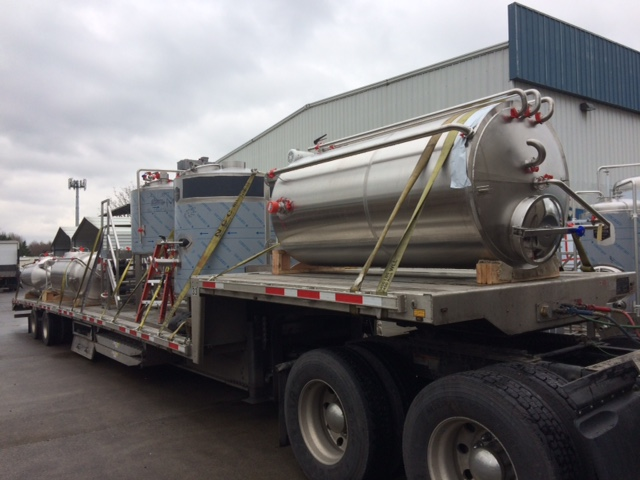 This brewhouse and cellar tanks are now safely with our friends at  @calcoastbeer  in downtown Paso Robles, California. It was great working with you guys.