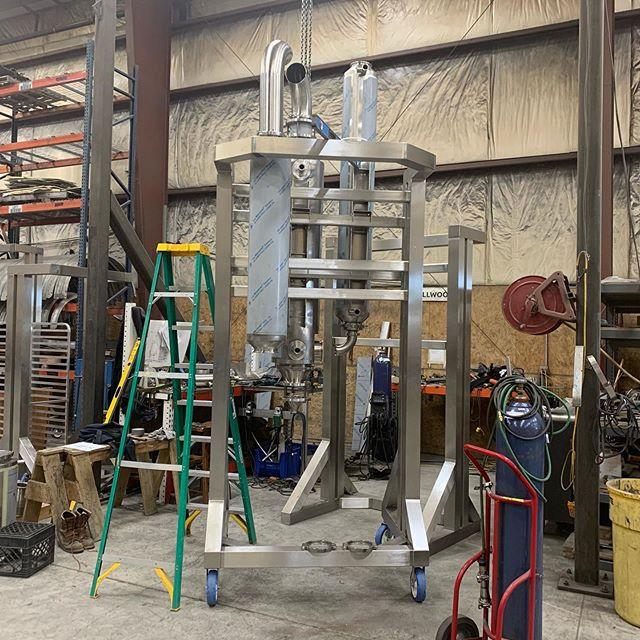 A falling film evaporator coming together. #cbd #cbdoil #cbddistillate #cbdisolate #hemp