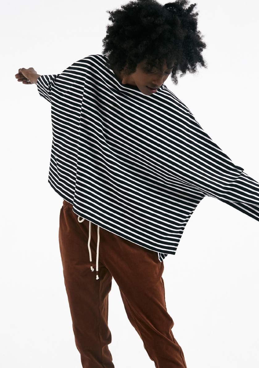 Striped long sleeve T-shirt by COG, the big smoke. Available August - September.