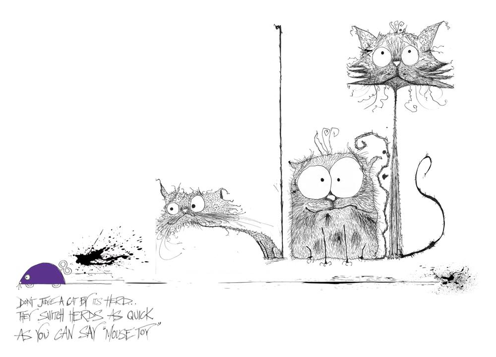 ILLUSTRATION: Crazy Cats