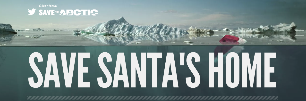 Greenpeace: Save Santa's Home Online Banner