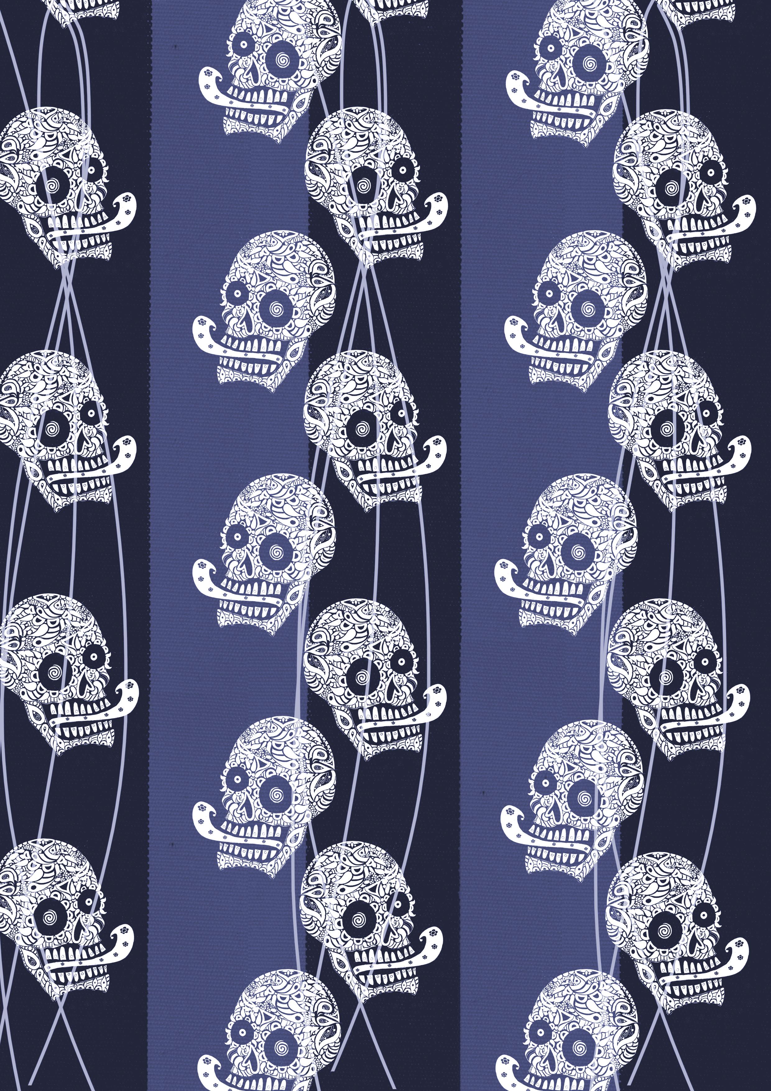 navy white little skulls black stripespink lines.jpg