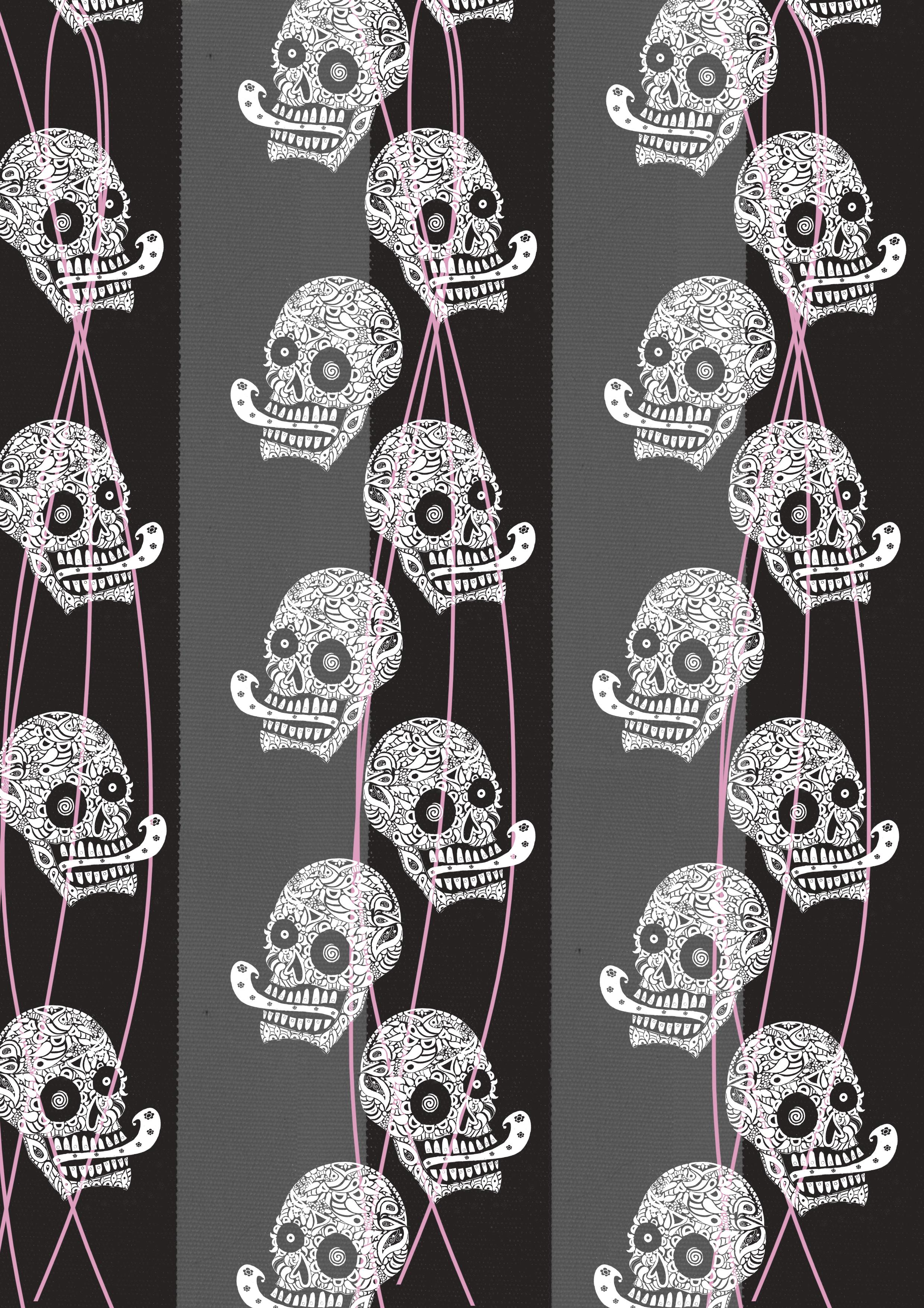 white little skulls black stripespink lines.jpg