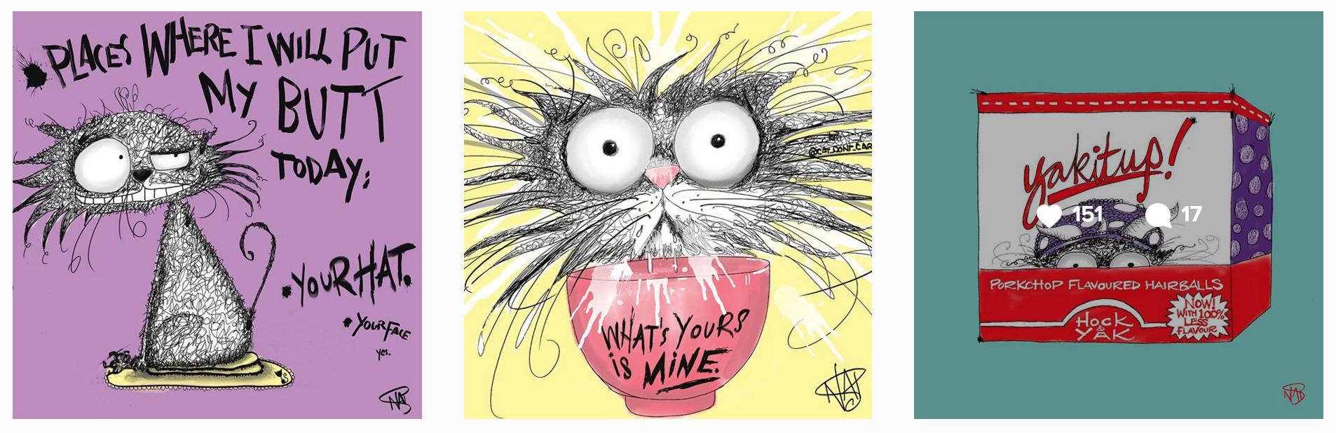 cat dont care 2 -Natalie Palmer Sutton Art
