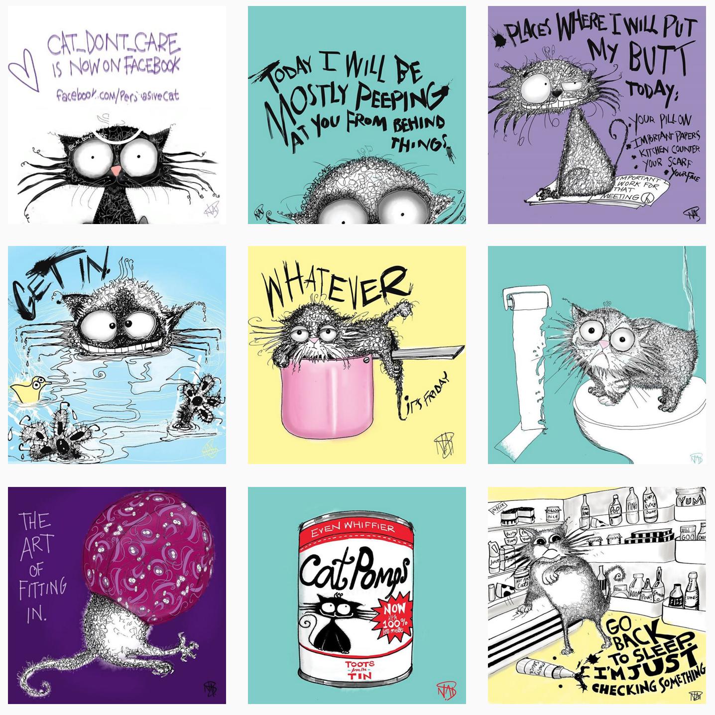 cat dont care - Natalie Palmer Sutton Art
