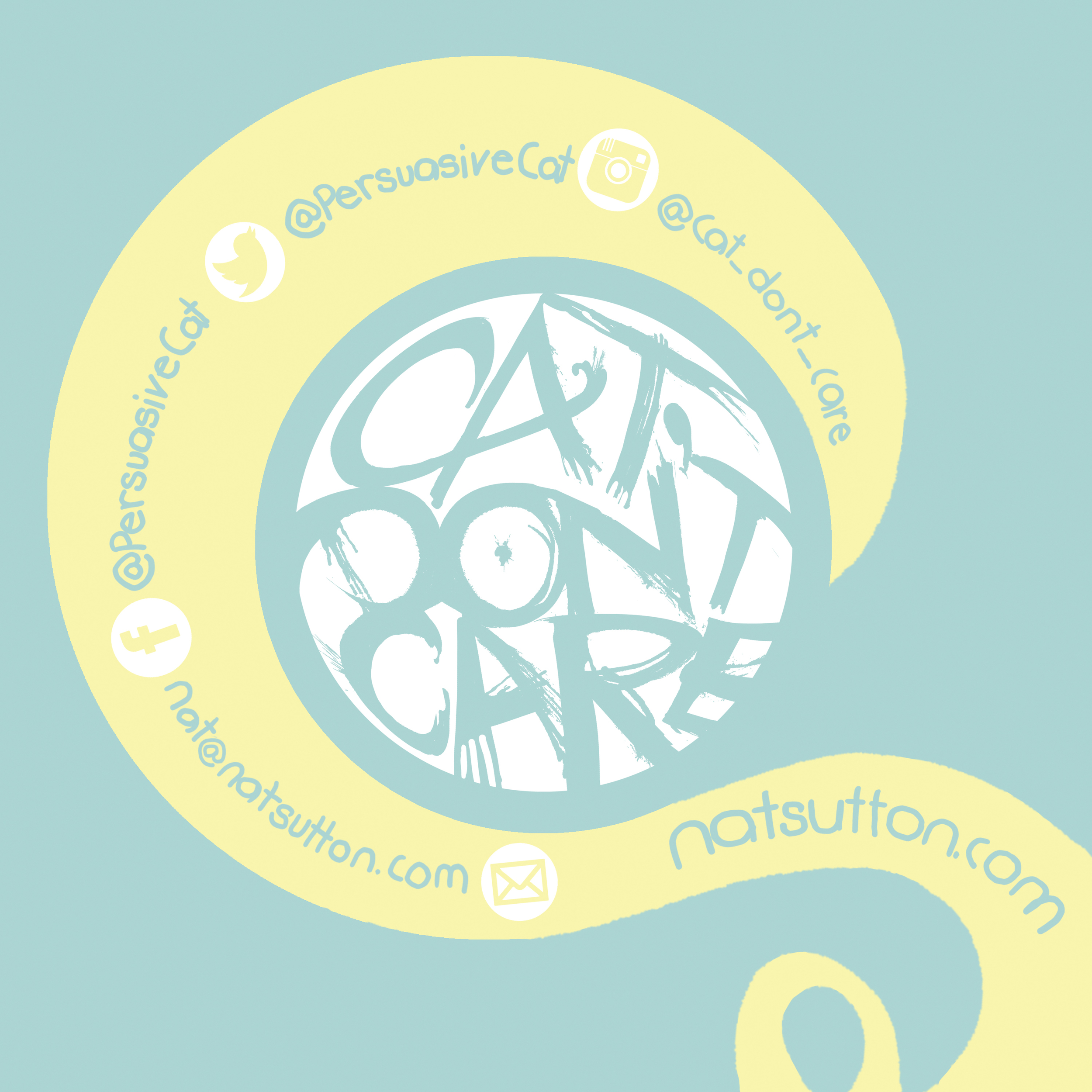 CAT DONT CARE -natalie palmer sutton illustration cat artist natsutton_com