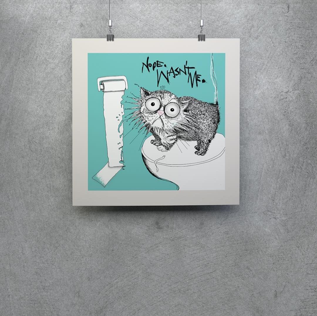 Win a 'Loo Roll Chomper' Limited Edition Mini Print