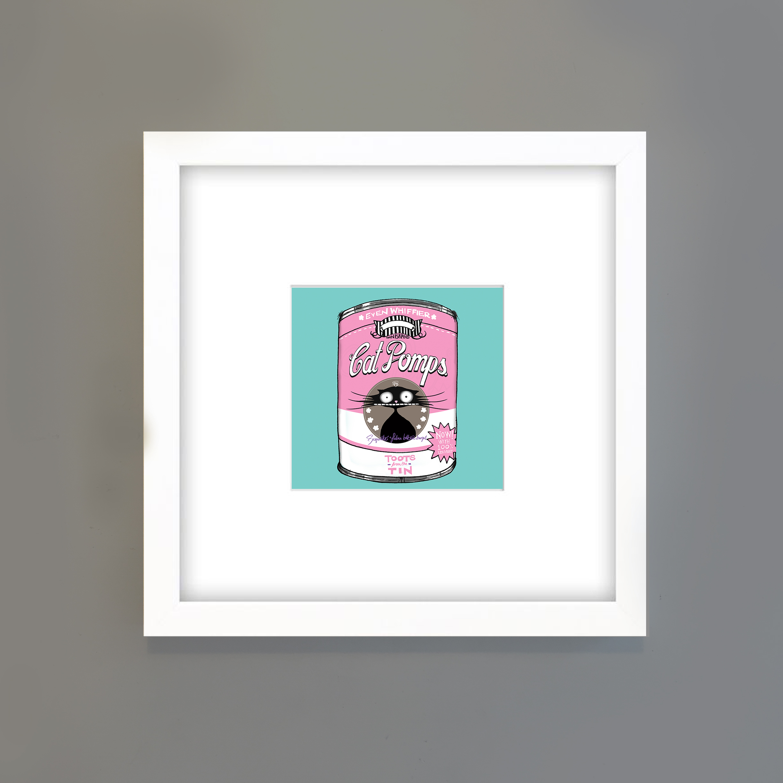 FRAME FOR CAT POMPS_TEAL_Pink_NATALIE SUTTON_CAT DONT CARE.jpg