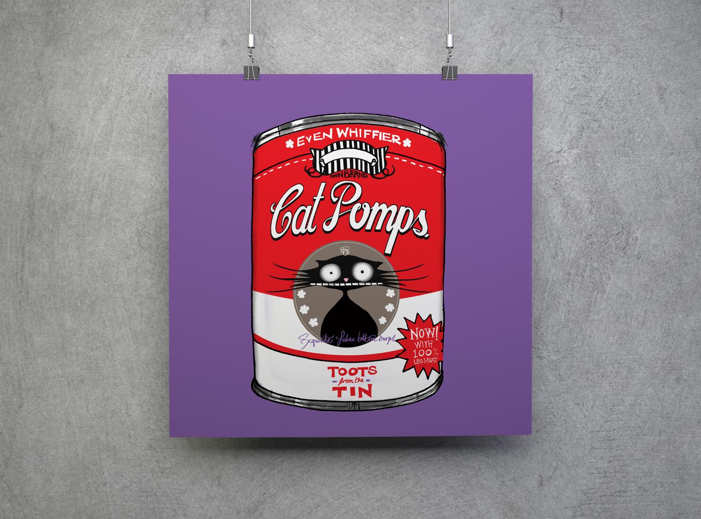 Cat Don't Care | Ben Bailey Smith | Natalie Palmer Sutton illustration | CAT POMPS print