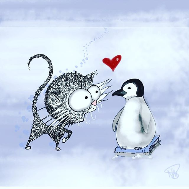 I heard it was #worldpenguinday so let's show them a little love!  This post is a throwback to our book deal with those lovely people at Penguin books ❤️ #cats #catsofinstagram #penguin #penguins #lovepenguins #booksandcats #highschoolteachers #middleschool #teacher #teachersofinstagram #teachersfollowteachers #inthecold #kitten #kittensofinstagram #neko #gato #pusica #chat #crazycatlady #crazycatladyforlife #loveyourself #lovecats