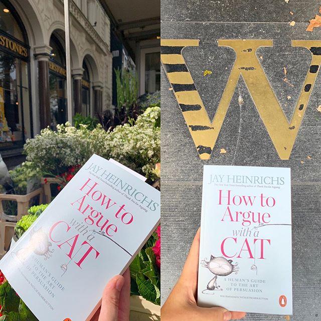 Amsterdam Waterstones is ROCKING IT!! BESTSELLER! How To a Argue With A Cat 😃 👍🐱🐱🐱🐱 Thank you @waterstonesamsterdam  #amsterdam #waterstonesamsterdam #catcafeamsterdam #howtoarguewithacat #cat #catboat #cats #kittens #rhetoric #persuasion #naughtycat #jayheinrichs #nataliepalmersutton #howtoargue #bestseller #bestsellingbooks #waterstonesbestseller #reading #booksofinstagram #booksofinsta #booksandcats #catsandbooks #catlover #catlovers #crazycatlady #catlady #catladylife #catsofamsterdam