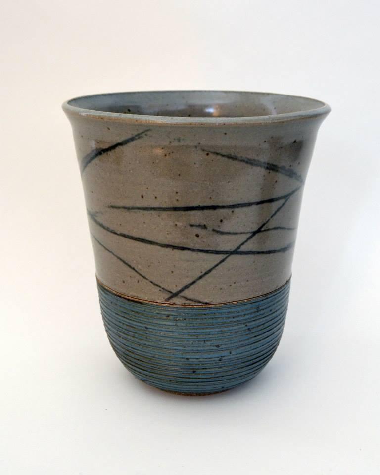 Beach Scene Vase