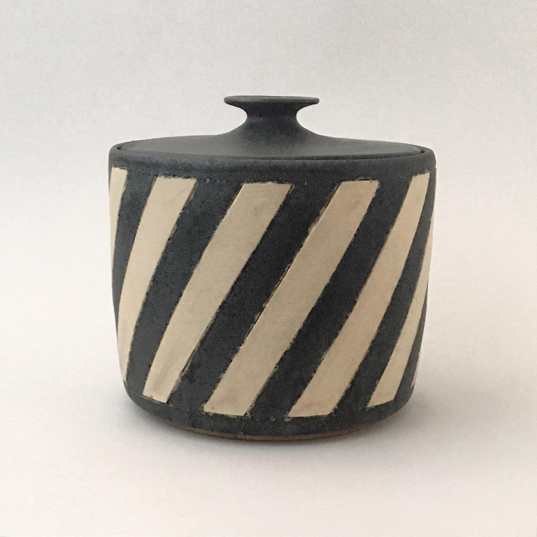 White Stripe Jar
