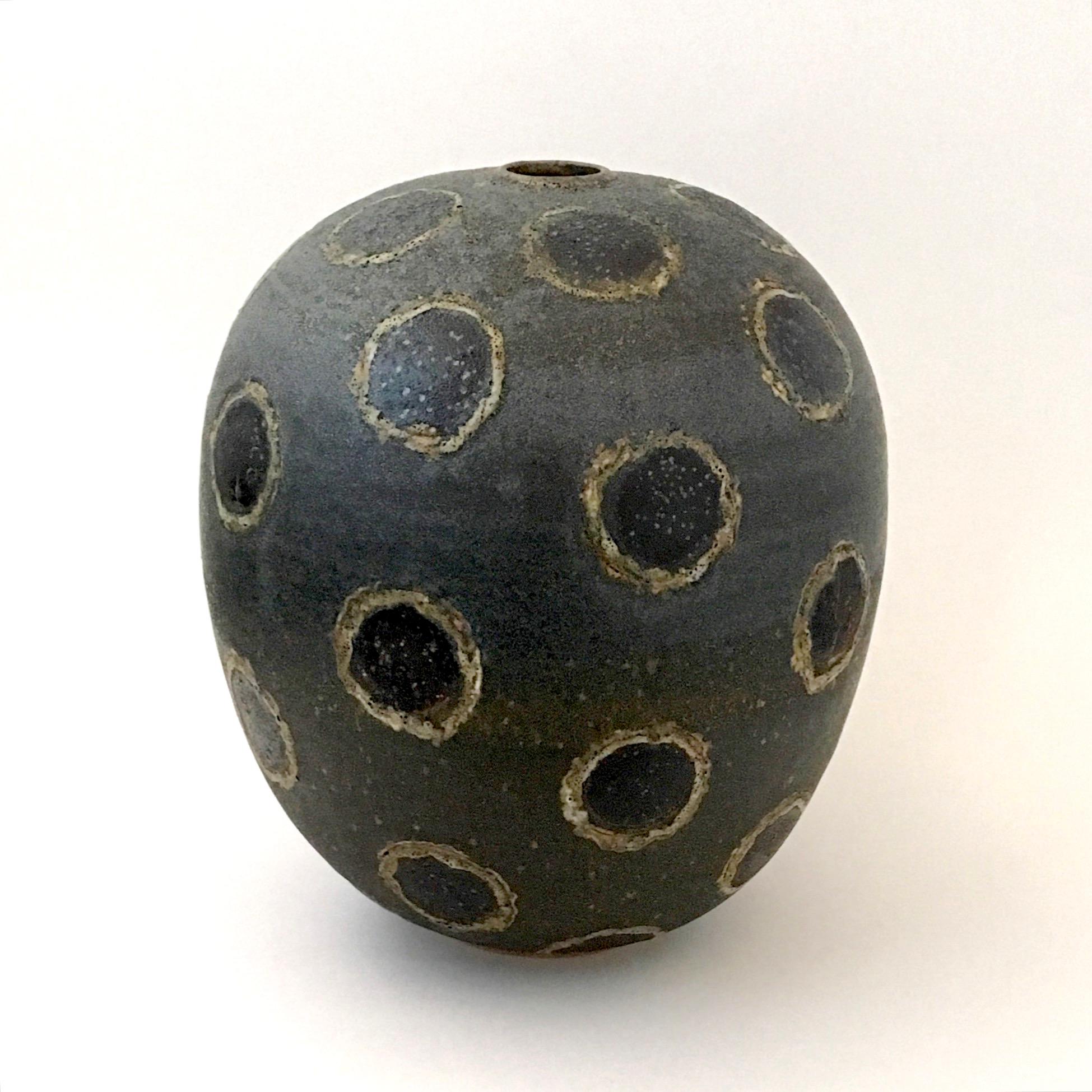 Black Orb Bud Vase