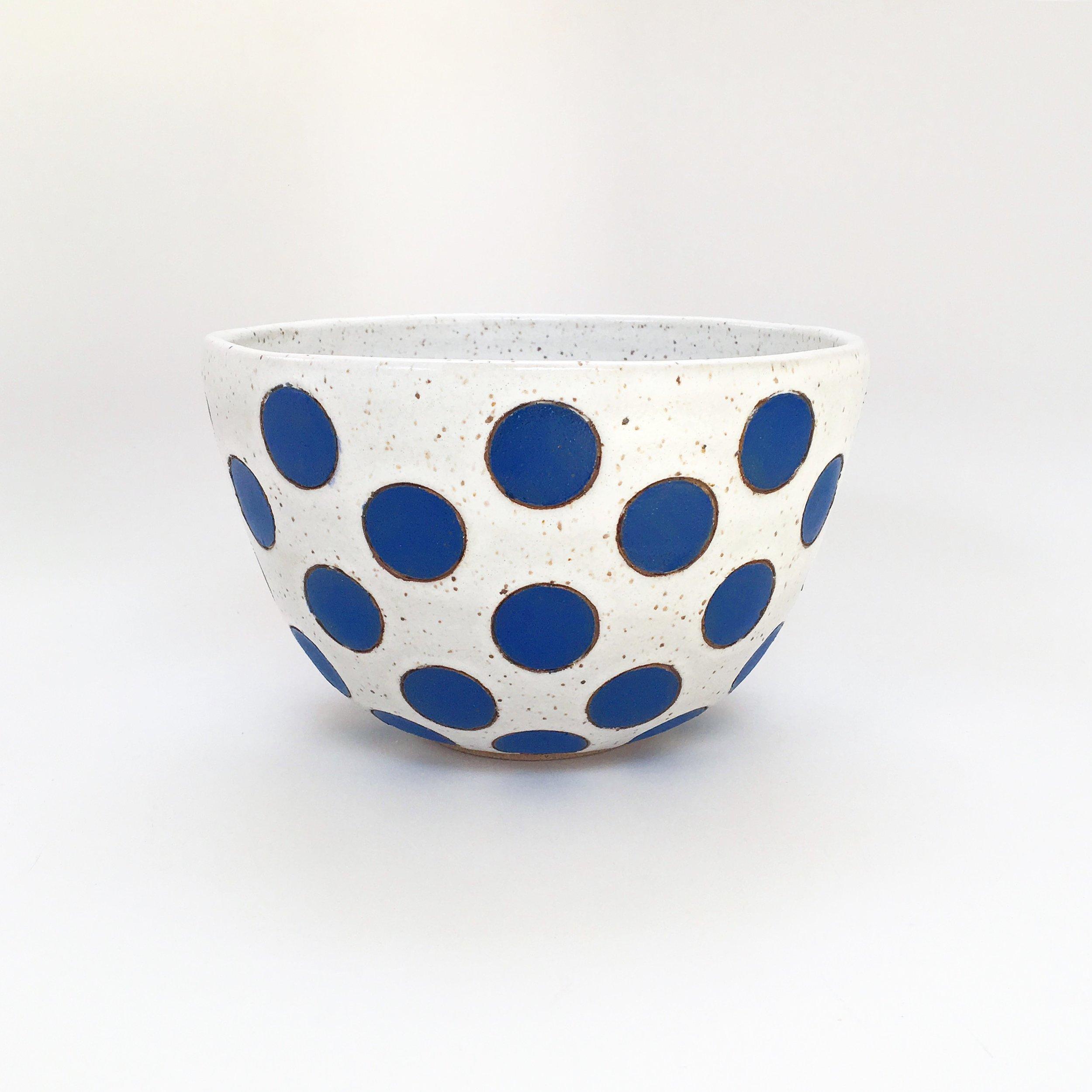 Blue Polka Dot Bowl