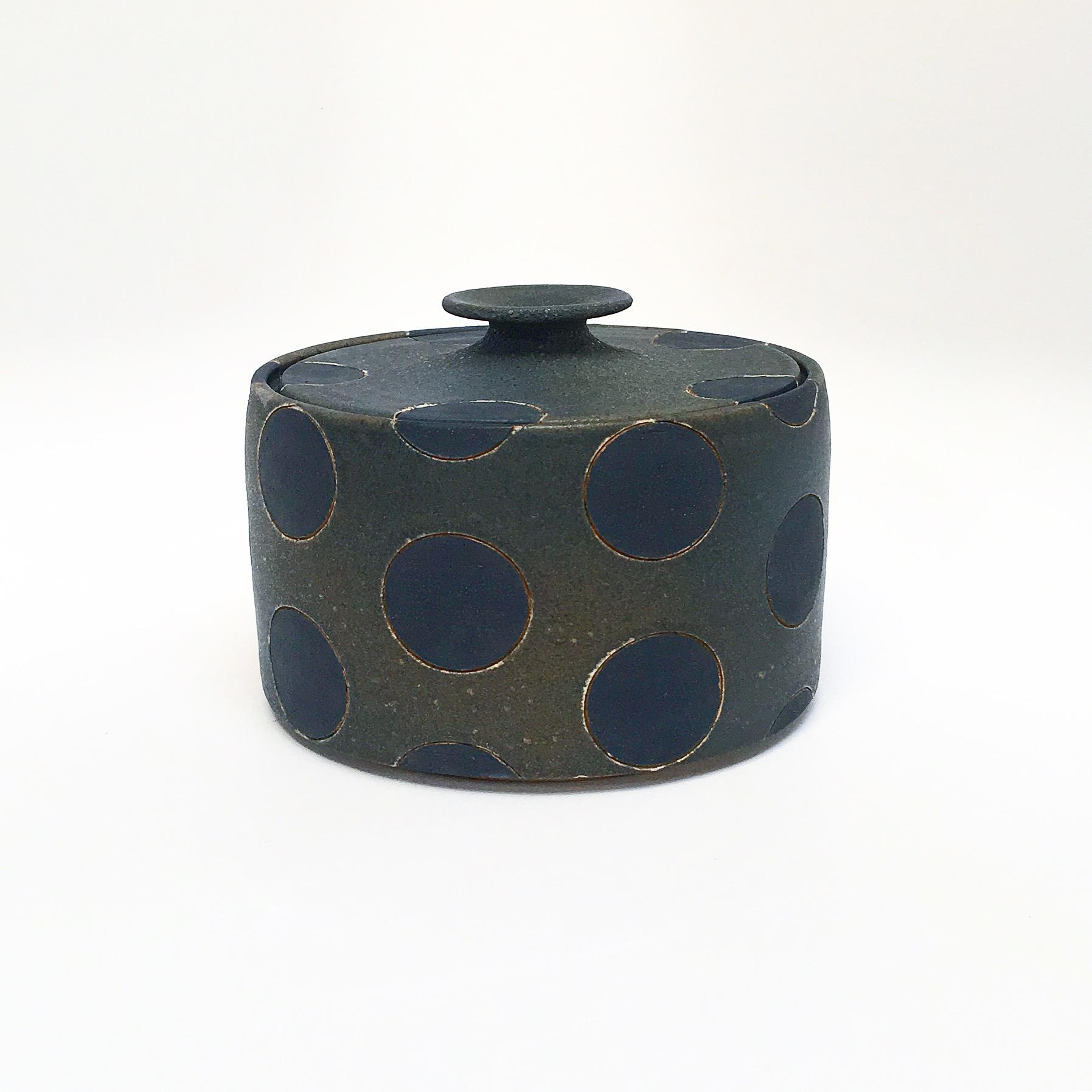 Black Polka Dot Jar