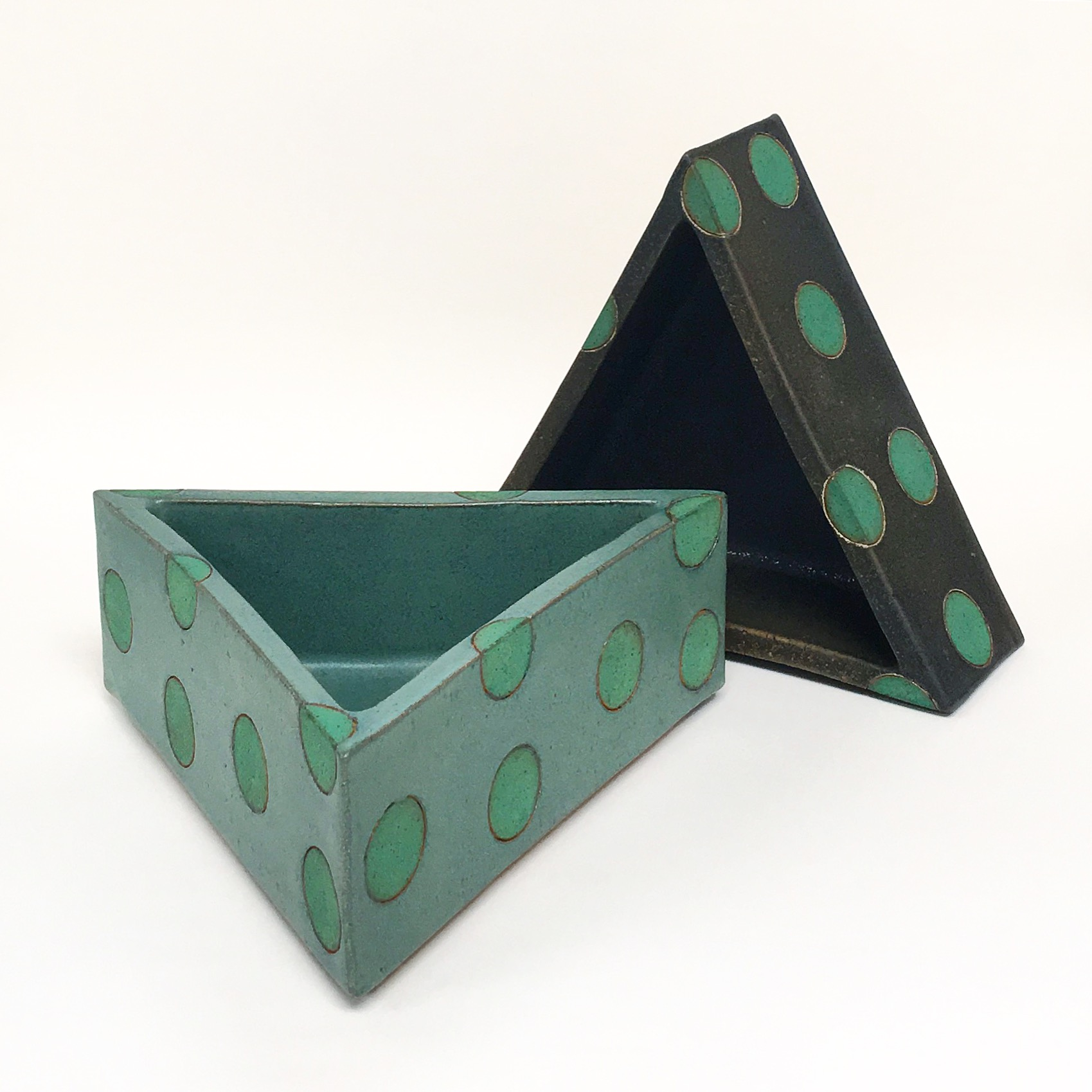triangle polka dot container.JPG