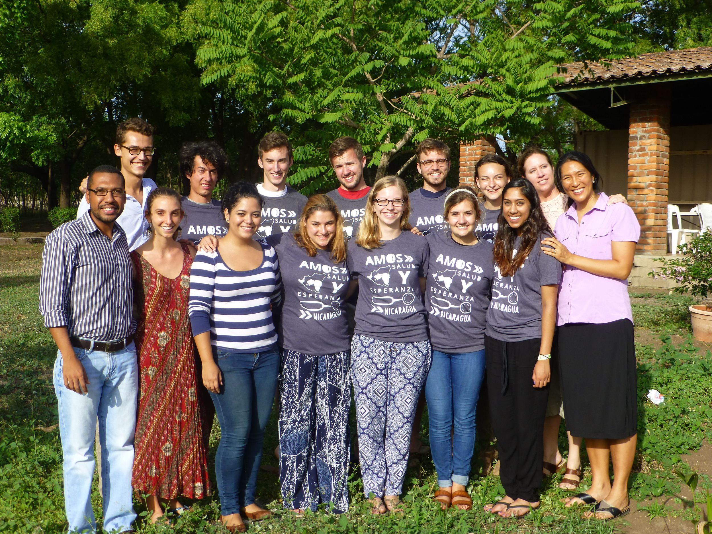 The PWAP-AMOS Global Health Practicum, an educational trip led by former fellows Ben and Leah, at the AMOS campus in Managua, Nicaragua in May 2015.