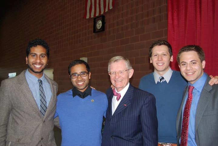 From left to right - Dheeraj Duggineni, Shuvro Roy, Gordon Gee, Adam Tabbaa, and Alexander Chaitoff. Photo taken 2012.