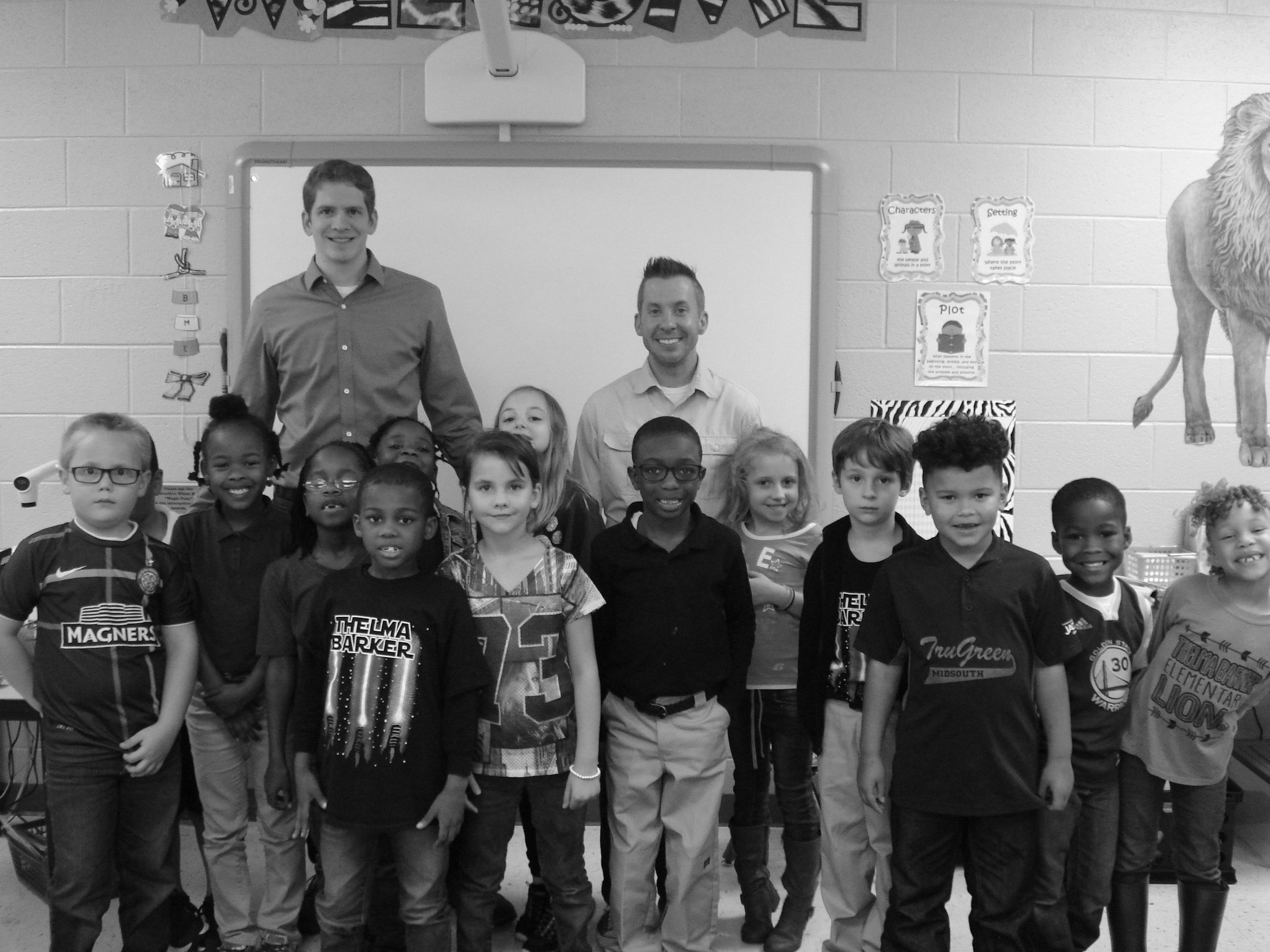 After an engaging conversation with a first grade class about dinosaurs and birds (with Dr. JR Kerfoot).